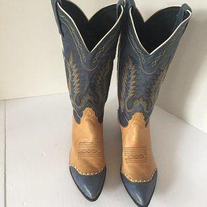 Tony Lama Two-Tone Western Boots Ladies Size 6.5 M
